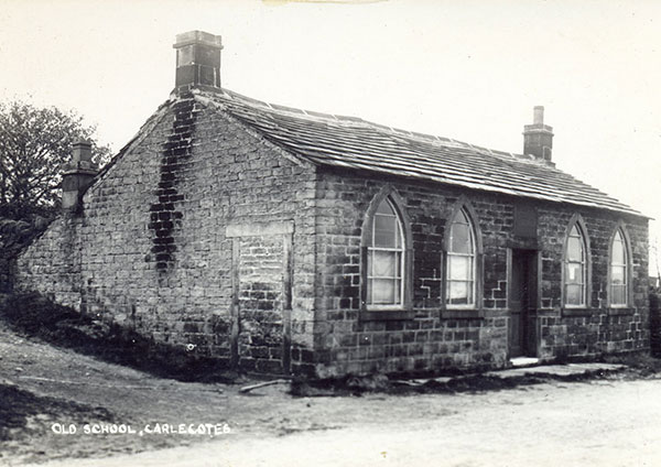 Old photo of the Old School House, Carlecotes